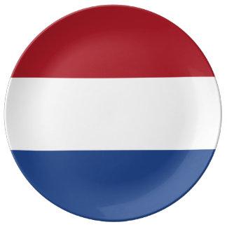 De Vlag van Nederland Porseleinen Bord