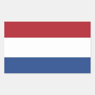 De Vlag van Nederland Rechthoekige Sticker