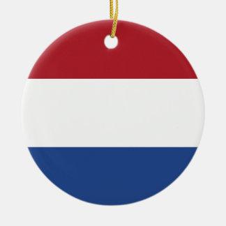 De Vlag van Nederland Rond Keramisch Ornament