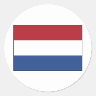De Vlag van Nederland Ronde Sticker