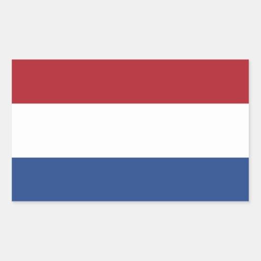 De Vlag van Nederland Rechthoek Stickers