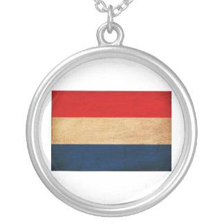 De Vlag van Nederland Zilver Vergulden Ketting