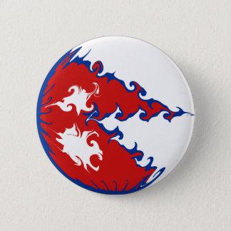 De Vlag van Nepal Gnarly Ronde Button 5,7 Cm
