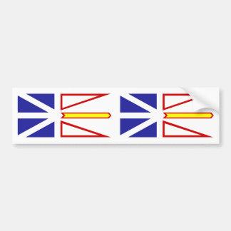 De Vlag van Newfoundland en van Labrador Bumpersticker