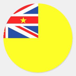 De vlag van Niue Ronde Sticker
