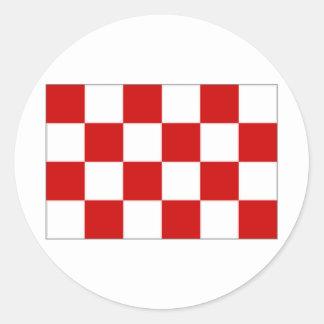 De Vlag van Noord Brabant van het Nederland Ronde Sticker