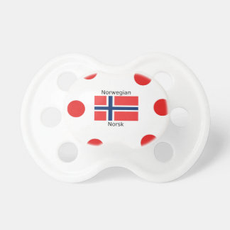 De Vlag van Noorwegen en het Noorse Ontwerp van de Fopspeen