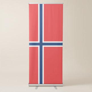 De Vlag van Noorwegen Roll-up Banner