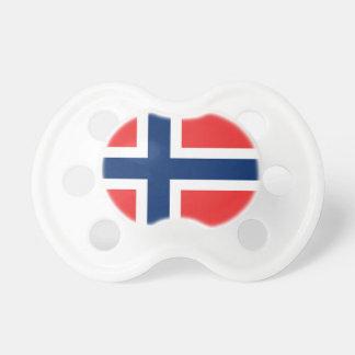 De vlag van Noorwegen - Scandinavië Baby Speentje