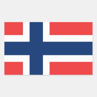De vlag van Noorwegen - Scandinavië Rechthoekige Sticker