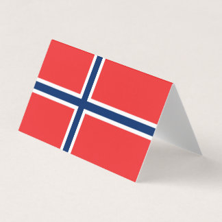 De Vlag van Noorwegen Visitekaartje