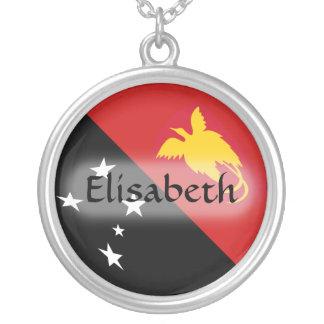 De Vlag van Papoea-Nieuw-Guinea + Het Ketting van