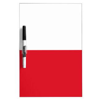 De vlag van Polonian Whiteboard