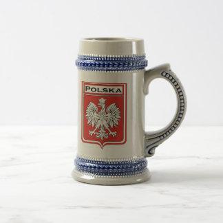 De Vlag van Polska/de Poolse Stenen bierkroes van Bierpul