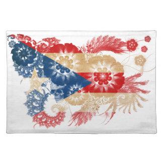 De Vlag van Puerto Rico Placemat