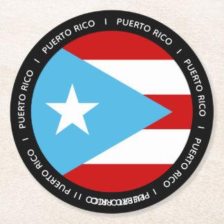 De Vlag van Puerto Rico Ronde Onderzetter