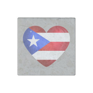 De Vlag van Puerto Rico Stenen Magneet