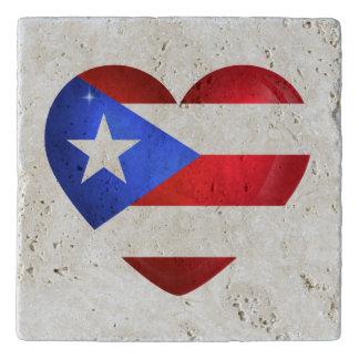 De Vlag van Puerto Rico Trivet