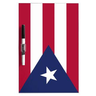 De vlag van Puerto Rico Whiteboards