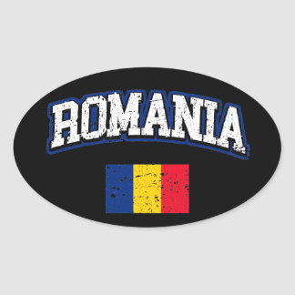 De Vlag van Roemenië Ovale Sticker