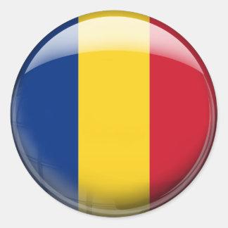 De Vlag van Roemenië Ronde Sticker