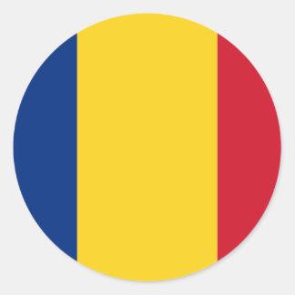 De vlag van Roemenië Ronde Stickers