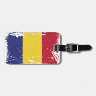 De Vlag van Roemenië van Grunge Bagagelabel