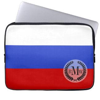 De vlag van Rus Laptop Computer Hoesje