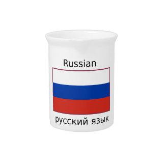 De Vlag van Rusland en het Russische Ontwerp van Bier Pitcher