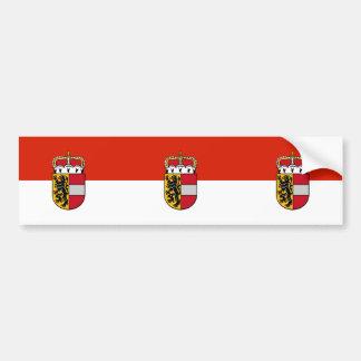 De vlag van Salzburg, Oostenrijk Bumpersticker
