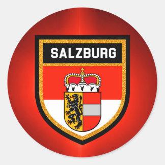 De Vlag van Salzburg Ronde Sticker