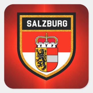 De Vlag van Salzburg Vierkante Sticker