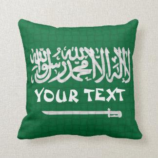 De Vlag van Saudi-Arabië: VOEG TEKST TOE Sierkussen