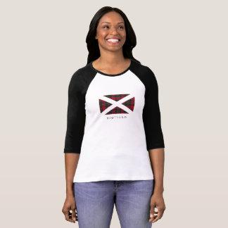 De Vlag van Schotland (zwarte tekst) - Voorzijde T Shirt