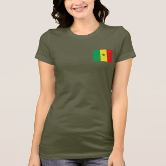 De Vlag van Senegal en DKT-shirt van de Kaart T Shirt