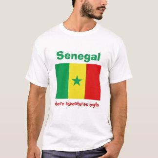 De Vlag van Senegal + Kaart + De T-shirt van de