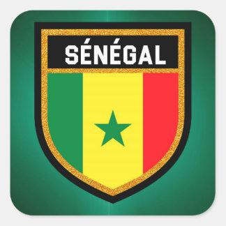 De Vlag van Sénégal Vierkante Sticker