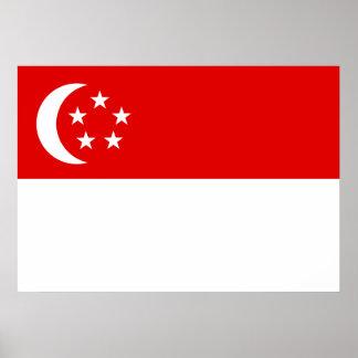 De Vlag van Singapore Poster