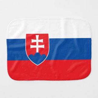 De Vlag van Slowakije Baby Spuugdoekjes