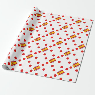 De Vlag van Spanje en het Spaanse Ontwerp van de Inpakpapier