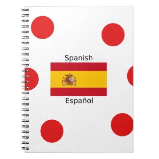De Vlag van Spanje en het Spaanse Ontwerp van de Ringband Notitieboek