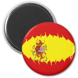 De Vlag van Spanje Gnarly Magneet