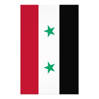 De vlag van Syrië Briefpapier