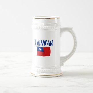De Vlag van Taiwan Bierpul