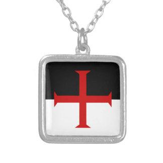 De Vlag van Templar van ridders Ketting Vierkant Hangertje