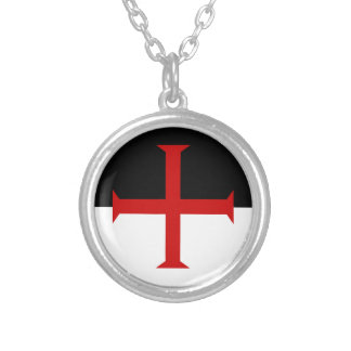 De Vlag van Templar van ridders Zilver Vergulden Ketting