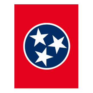 De Vlag van Tennessee Briefkaart