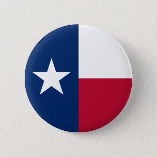 De Vlag van Texas Ronde Button 5,7 Cm