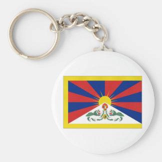 De Vlag van Tibet Sleutelhanger