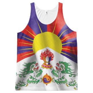 De Vlag van Tibet Unisex- helemaal over de Tanktop All-Over-Print Tank Top